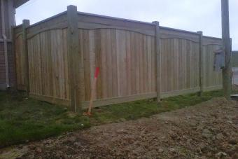 New wood fence.