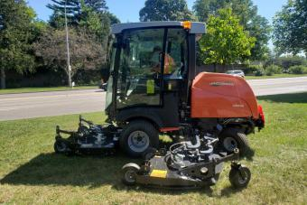 Commercial grass mower.